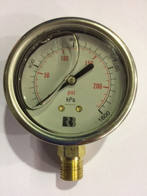 Boiler Pressure gauges all ranges and sizes
