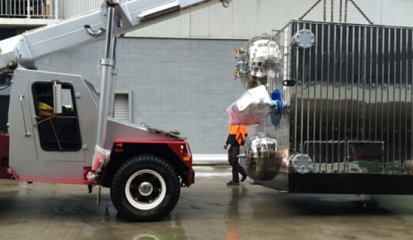 Water Tube Boiler getting delivered
