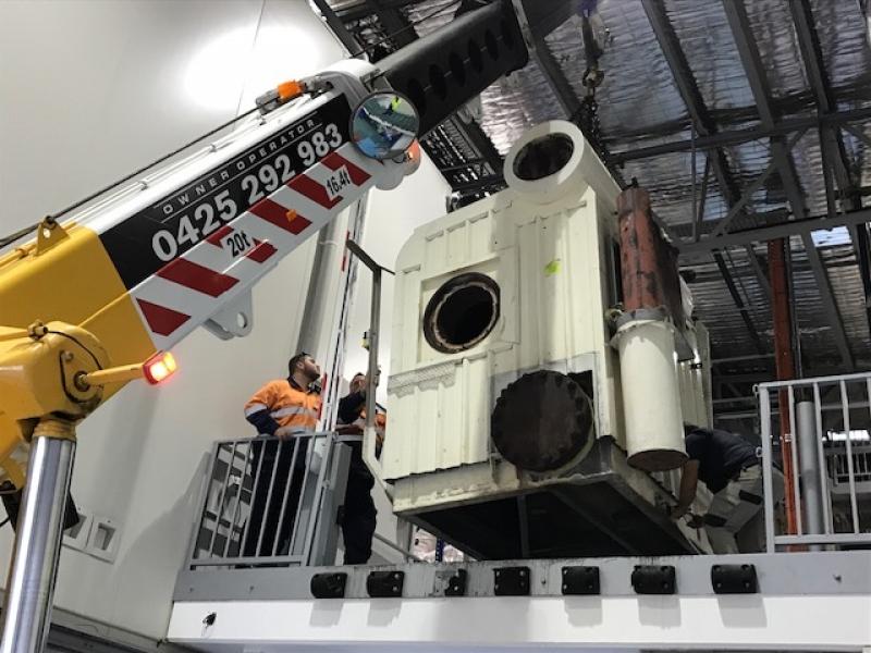 older boiler removed